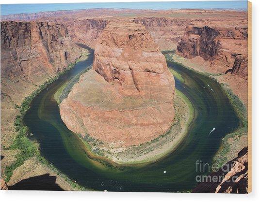 Horseshoe Bend Colorado River Wood Print
