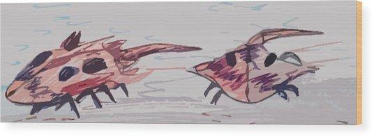 Horseshoe Crabs Wood Print by Andrew Blitman