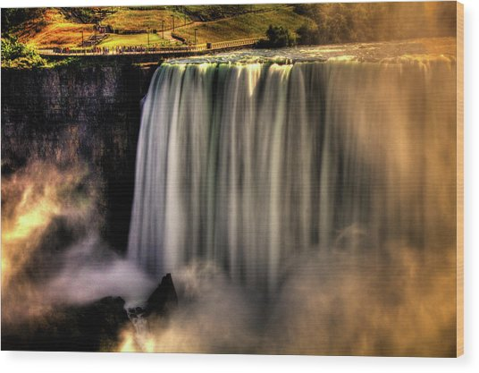 Horseshoe Falls Early Autumn No 03 Wood Print