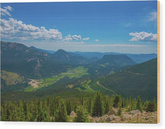 Horseshoe Park From Rainbow Curve 1 Wood Print