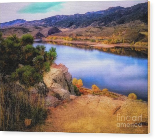 Horsetooth Lake Overlook Wood Print