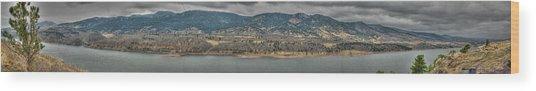 Horsetooth Reservoir Panoramic Hdr Wood Print