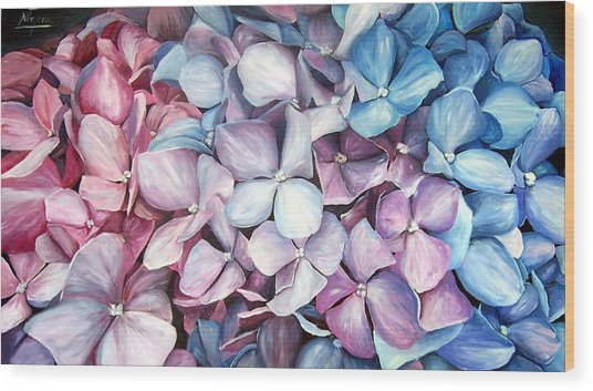 Hortensias Wood Print