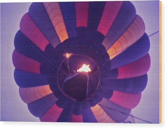 Hot Air Balloon - 7 Wood Print by Randy Muir