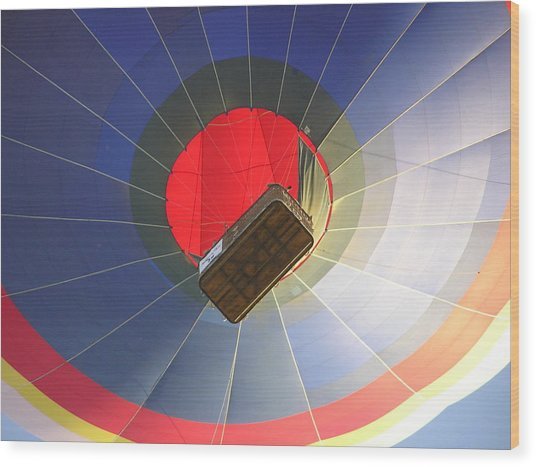 Hot Air Balloon Wood Print by Richard Mitchell