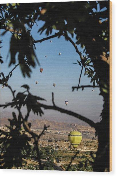 Hot Air Balloons In Cappadocia, Turkey Wood Print
