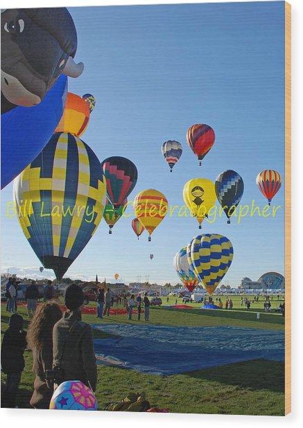 Hot Air Rising II Wood Print by Bill Lawry - Celebratographer