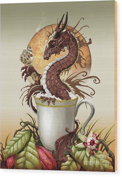 Hot Chocolate Dragon Wood Print