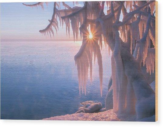Hot Ice Wood Print
