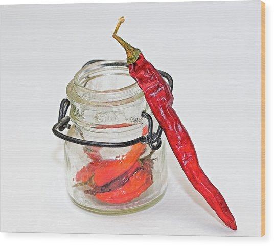 Hot Pepper Wood Print by John Mueller