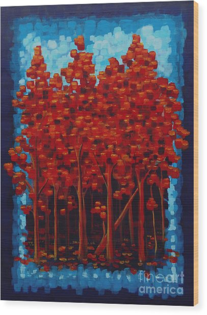 Hot Reds Wood Print