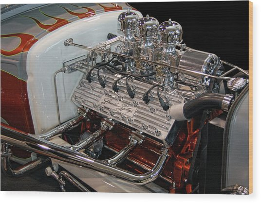 Hot Rod Lincoln Wood Print