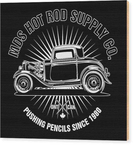 Hot Rod Shop Shirt Wood Print
