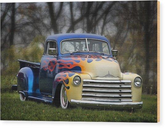 Hot Rod Truck Wood Print