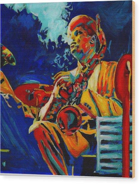 Hot Sax Wood Print