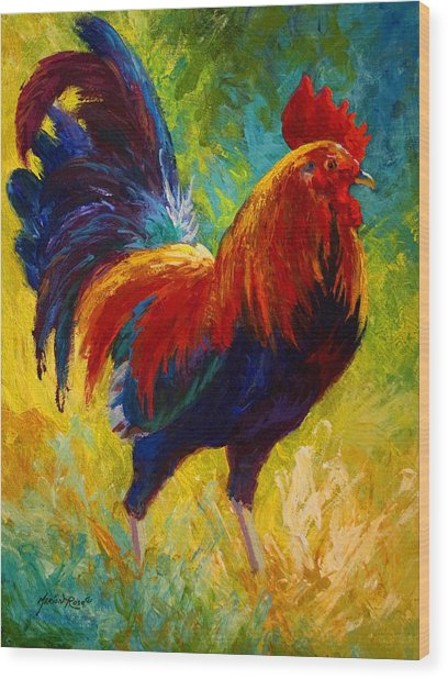 Hot Shot - Rooster Wood Print