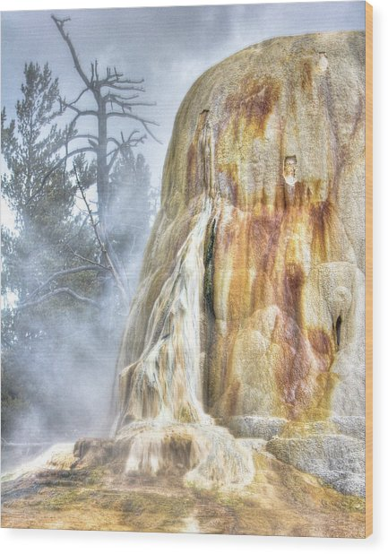 Hot Springs Wood Print