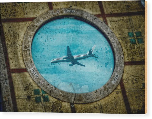 Wood Print featuring the photograph Hot Tub Flight by Harry Spitz