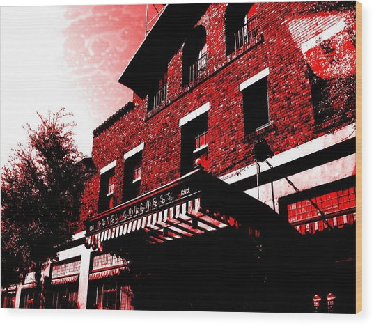 Wood Print featuring the photograph Hotel Congress by MB Dallocchio