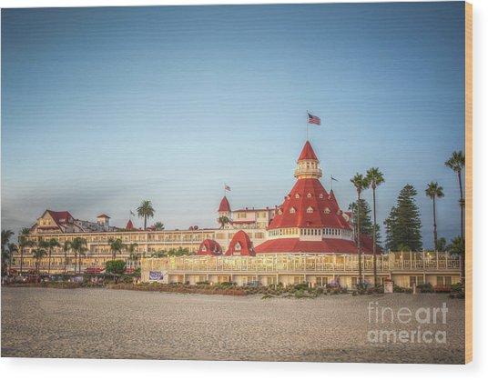 Hotel Del Coronado Dusk Wood Print