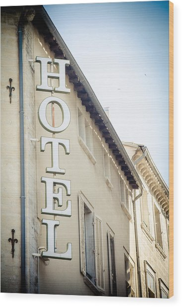 Wood Print featuring the photograph Hotel by Jason Smith