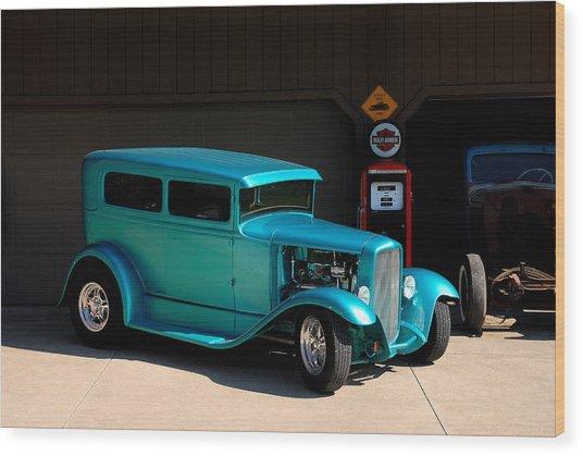 Hotrod Car Wood Print