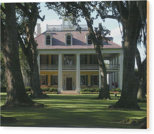 Houmas House Plantation Wood Print