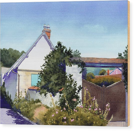 House At Giverny Wood Print