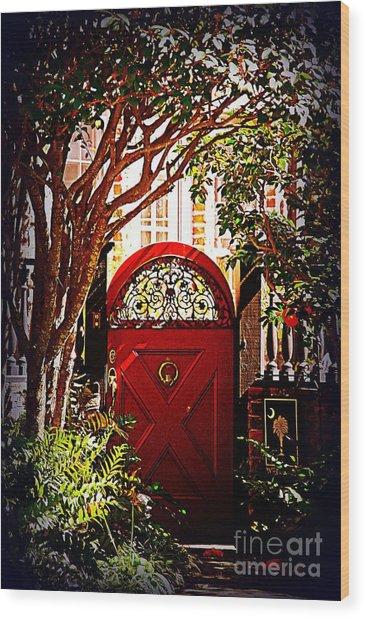 House Door 5 In Charleston Sc  Wood Print