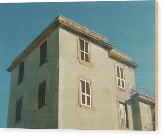 House In Ostia Beach, Rome Wood Print