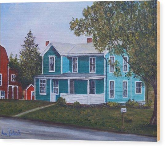 House In Seward Wood Print