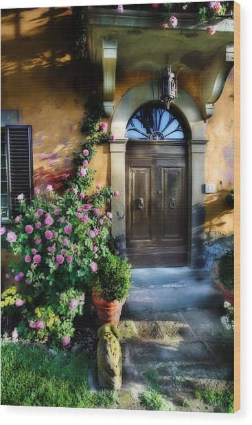 House In Tuscany Wood Print
