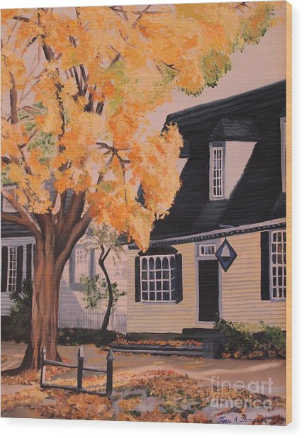 House In Williamsburg  Va Wood Print