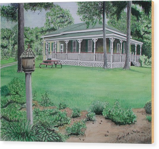 House Of David Wood Print by Ferrel Cordle