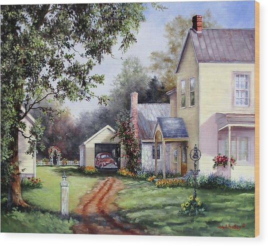House On Bird Street Wood Print