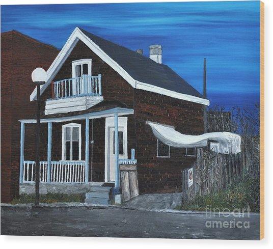 House On Hadley Street Wood Print