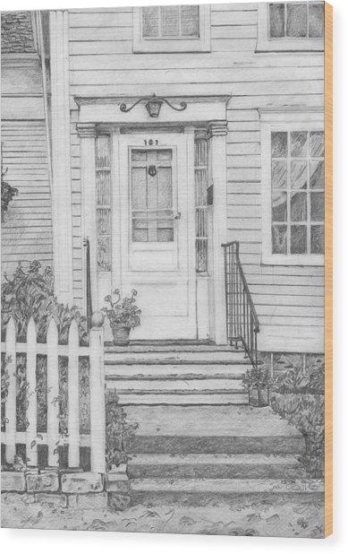 House On Nicollet Island Wood Print by Sue Olson