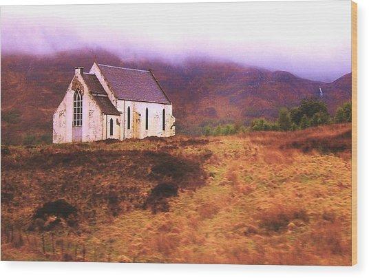 House On The Prairie Wood Print