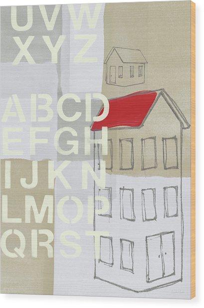 House Plans- Art By Linda Woods Wood Print