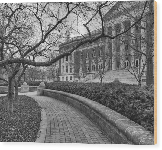 Hovde Hall Wood Print