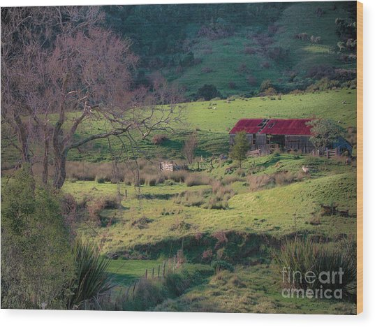How Green Is My Valley Wood Print