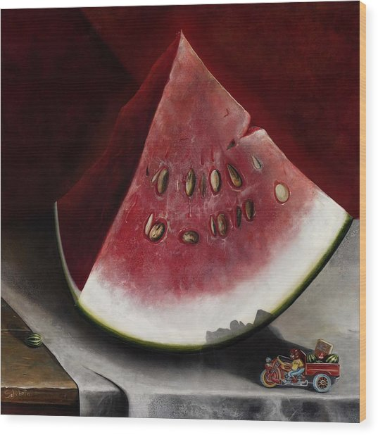 How To Grow Watermelon Wood Print by Stephen Schubert