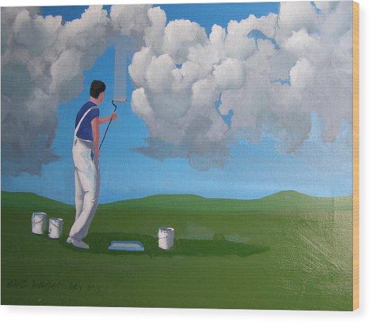 How To Paint A Shetland Sky Wood Print