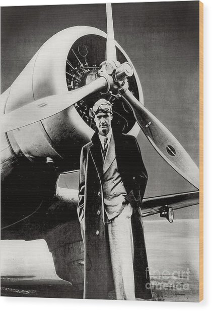 Howard Hughes - American Aviator  Wood Print