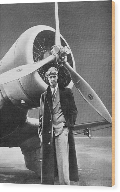 Howard Hughes, Us Aviation Pioneer Wood Print by Science, Industry & Business Librarynew York Public Library