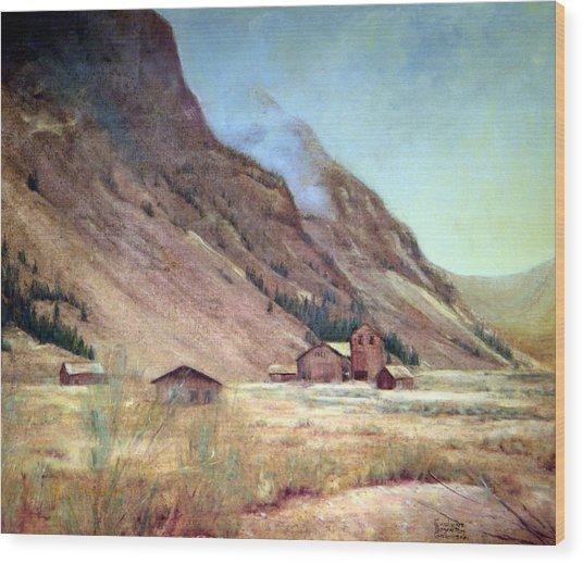 Howardsville Colorado Wood Print by Evelyne Boynton Grierson