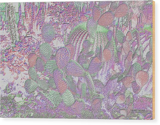 Wood Print featuring the digital art Ht2032 by Brian Gryphon