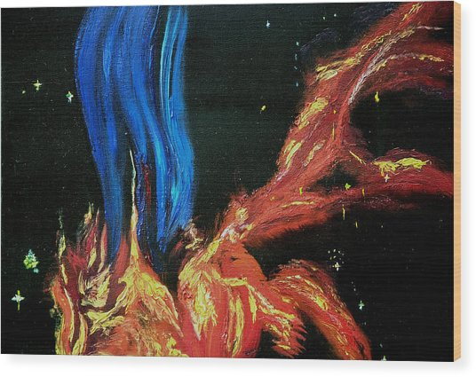 Hubble Space Vapors Wood Print by Gregory Allen Page