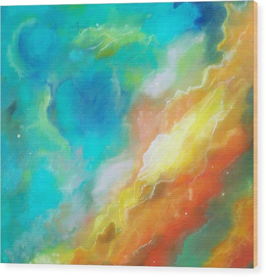 Hubble Swan Nebula The Perfect Storm Wood Print by Lynda McDonald