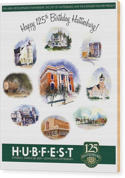Hubfest Poster Wood Print
